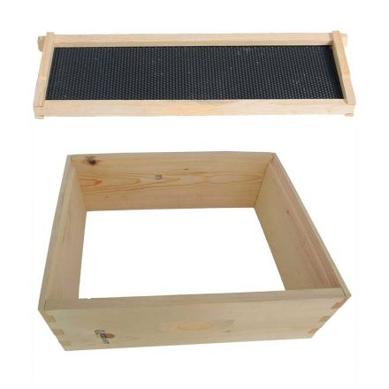 GoodLand Bee Supply GL-1SK Beekeeping Beehive Kit includes Super Box, Spacer, Frames and Foundations