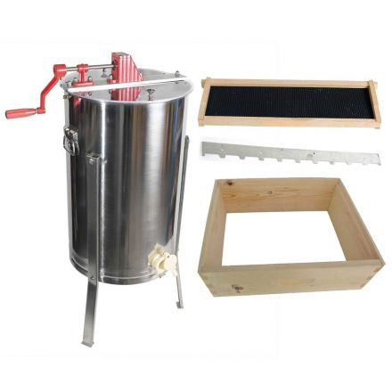 Goodland Bee Supply GL-E2-1SK-SPCR 2 Frame Honey Extractor and 1 Complete Honey Super Free Spacer Included