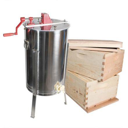 GoodLand Bee Supply GL-E2-2BK Beekeeping Double Deep Beehive Kit