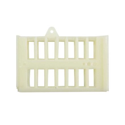 "Good Land Bee Supply GLQCAGE-W Queen Bee Cage White Plastic - 2"" x 1"" x 3/4"""