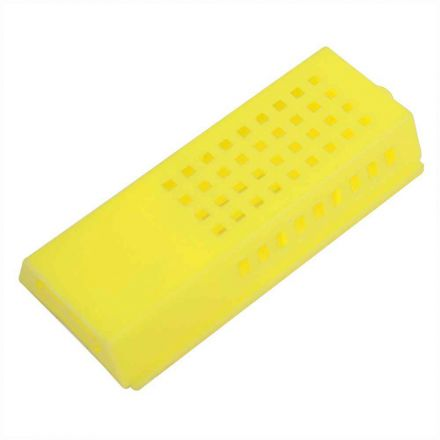 "Good Land Bee Supply GLQCAGE-Y Queen Bee Cage Yellow Plastic - 3"" x 1-1/2"" x 1/2"""
